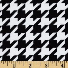 Riley Blake Cotton Jersey Knit Medium Houndstooth Black from @fabricdotcom  From Riley Blake Fabrics, this lightweight stretch cotton jersey knit fabric features a smooth hand and about a 50% four way stretch for added comfort and ease. It is perfect for making t-shirts, loungewear, yoga pants and more! Colors include black and white.