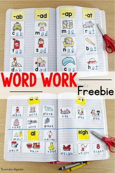 Focusing on word patterns and features is key in helping your students learn and apply word study skills to improve reading, writing, and spelling. Sign up for my free newsletter and get a week's worth of word work activities, a sample schedule for word work, and centers to implement right away. #wordworkcenters #firstgradewordwork #kindergartenwordwork #freewordworkactivities #phonicsactivities #interactivenotebook #1stgrade #workingwithwords