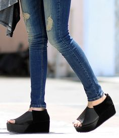 Peep-Toe Wedges – Wedges & Clogs   yeswalker   Free worldwide shipping on every order