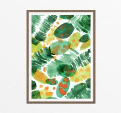 Tropical Art Print/ Green Tropic Printable by EasternCloudStudio