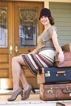 I love the crochet lace strips on this crochet skirt. Swannanoa Skirt - Media - Crochet Me