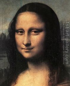 Mona Lisa (detail) by Leonardo Da Vinci