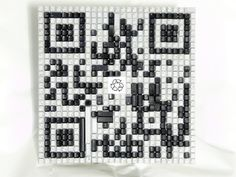 A few surplus keyboards and some spare time. Voilá! #qr #art