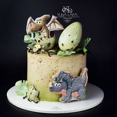 Dinosaur Birthday Cakes, Baby Birthday Cakes, Dinosaur Cake, Cookies And Cream Cake, Cupcake Cookies, Beautiful Cakes, Amazing Cakes, Dino Cake, Dessert Decoration