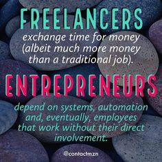 The difference between Freelancers & Entrepreneurs