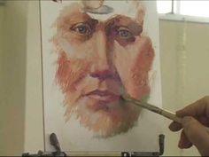 Polarizing Oil Portrait Painting Demo by Jon Houglum Part 3 - YouTube