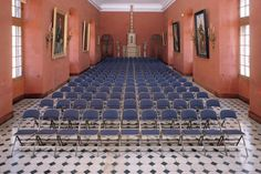 Our Audience Seating range at Chateau De Castries. History, Culture, Furniture, Folding Seating, Interior, Design, Decor.