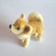 Pomeranian dog  needle felted dog  Custom needle felted