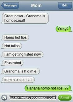 So many autocorrect fails in just one convo!