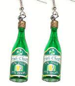 5 percent Irish 95 percent Drunk SHAMROCK CHEER GREEN WHISKEY BEER BOTTLE EARRINGS - Liquor Bar Pub novelty costume Jewelry - http://team-zebra.com/Funny-IRISH-WHISKEY-FUNKY-EARRINGS-Beer-Bar-Fun-Novelty-Jewelry-TZ-00946.htm