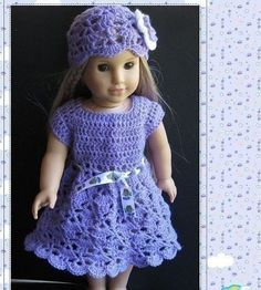 Pattern in PDF crocheted doll hat for American Girl, Gotz or similar 18 inches dolls -- Doll Hat 11. $5.99, via Etsy.