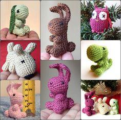 Mini crocheted animal by LottasArk on Etsy, £10.00