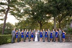 wedding party blue dress grey suit - Google Search