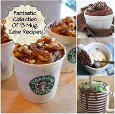 Fantastic Collection Of 13 Mug Cake Recipes Mug Recipes, Baking Recipes, Cake Recipes, Dessert Recipes, Dessert Ideas, Non Chocolate Desserts, Cookie In A Mug, Delicious Desserts, Yummy Food