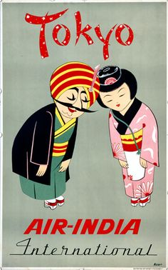 Poster for Air India International to Tokyo