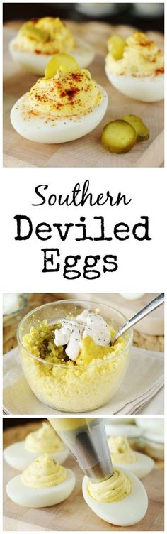 The perfect recipe to use with all of my left over Easter eggs. These deviled eggs look delish! The perfect recipe to use with all of my left over Easter eggs. These deviled eggs look delish! Egg Recipes, Appetizer Recipes, Recipies, Tapas, Southern Deviled Eggs, Master Chef, Southern Recipes, Southern Food, Southern Style