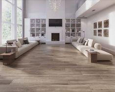 Cleveland Roble 9 x 48 Porcelain Wood Look Tile Grey Wood Tile, Grey Wood Floors, Wood Tile Floors, Hardwood Floors, Gray Tiles, Concrete Floor, Wood Planks, Wood Tile Kitchen, Wood Floor Bathroom