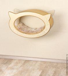 Купить Подвесная лежанка Голова кошки. - лежак, лежак для кошки, лежанка для кошки, дизайнерская мебель