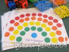 Roll-A-Rainbow Game--Board download link in this post.