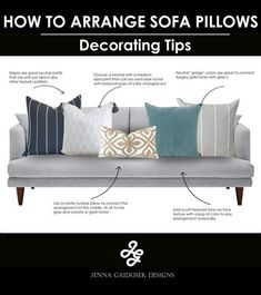 How to mix pillows for your living room sofa. Choose a neutral with a m… : How to mix pillows for your living room sofa. Choose a… Living Room pillows Living Room Sofa, Living Room Decor, Dining Room, Suede Sofa, Rustic Home Interiors, Large Furniture, Upcycled Furniture, Vintage Furniture, Furniture Ideas