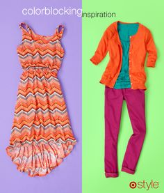 STYLE TIPS FROM JUNE AMBROSE  Make an entire outfit using the colors in a patterned dress. Sold at Target