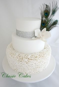 1000 Images About Peacock Wedding Cakes On Pinterest