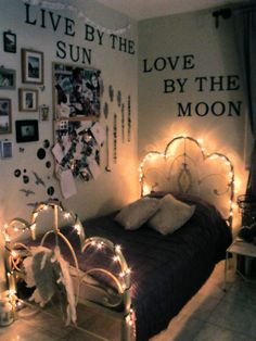 Live by the sun, love by the moon......BED LIGHTS! (no bugs)