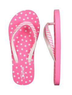 Neon Pink Stars & Stripes Flip Flops | Flip Flops | Shoes | Shop Justice