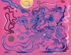 Saturn Art Print by Juliana Horner - X-Small Kunst Inspo, Art Inspo, Posca Art, Arte Obscura, Arte Sketchbook, Art Hoe, Hippie Art, Art And Illustration, Illustrations