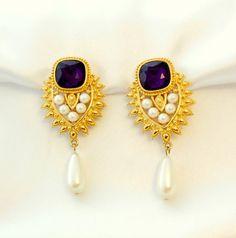 AVON Elizabeth Taylor Earrings by Shaill Jhaveri by Ladysfancys, $85.99