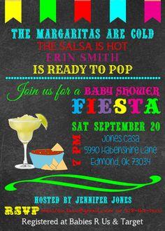 Mexican Themed Baby Shower Invitation by jenkitt on Etsy