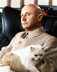 blofeld loves his cat.