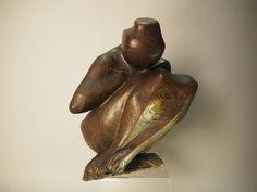Georges OUDOT (1928-2004), d'après. Femme agenouillée. Bronze, signé