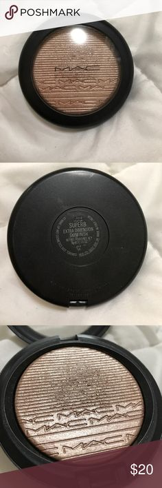 """MAC """"superb"""" patina bronzer Gorgeous worn a few times, too dark for my complexion, wasn't glued well so its depotted (will be bubble wrapped when shipped) MAC Cosmetics Makeup Bronzer"""