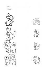 Snapshot image of printable Big and Small Worksheets 3 and