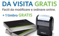 VistaPrint ti offre 250 biglietti da visita gratis. Non perde questa fantastica occasione! Prova il servizio.