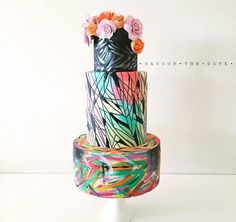 This cake inspired by Paris Street Artist Alexandre Monteiro-Aka Hopare. Made by Teneille Mackenzie (Savour The Date) Perth Australia.(For -Cuties Street Art Collaboration)