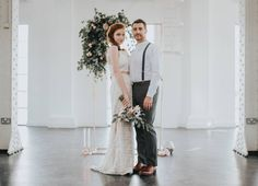 """""""A soft, feminine inspiration shoot with a modernised twist. Rose Quartz, Copper details, geometric shapes and contemporary bridal wear, teamed with luscious florals and complimented by a cool industrial style wedding venue."""" That's how this shoot was described to me by talented wedding stylist and planner Hannah of Hannah Charlotte Weddings.  100% living up to the hype! Hannah and the team pulled off a super inspirational styled bridal shoot that you are just gonna be all over...."""