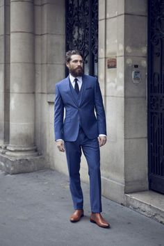 costume bleu sur mesure