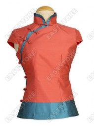 Cap Sleeves Thai Silk Blouse