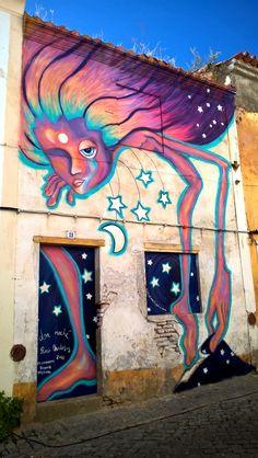 LA NOCHE / The night by Rocio Matosas @rociomatosas  Passodarte International Busker Festival  Crato, Portugal - 2016