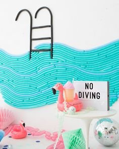 Pool Party Balloon Wall | Oh Happy Day! Festa Party, Diy Party, Party Ideas, Flamingo Party, Party Banner, 30th Birthday Parties, Birthday Ideas, Kid Parties, Photo Deco