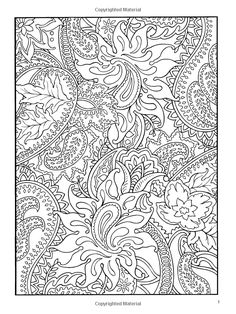 Paisley Design (Dover Coloring Book)