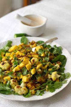 Mango and Curried Chickpea Salad - Borrowed Salt