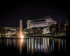 JMU Stadium and Lake at Night by BrianRipleyPhoto on Etsy, $20.00
