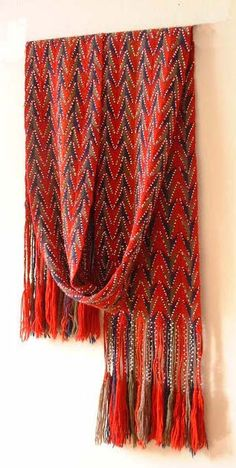 Here are some examples of Carol's finger woven sashes. Some are replicas, some are modern innovations. Take a look. Contact Carol for pricing or any other queries. Modern Color Schemes, Modern Colors, Finger Weaving, Fur Trade, Textiles, Red Arrow, Museum Collection, White Beads, Bead Weaving