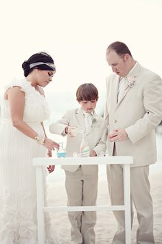 Sand Ceremony including child I was just saying I wanted to do this wuth Mikaila! Wedding Unity Candles, Unity Ceremony, Beach Ceremony, Wedding Ceremony, Our Wedding, Wedding Cards, Wedding Stuff, Dream Wedding, Beach Wedding Tables