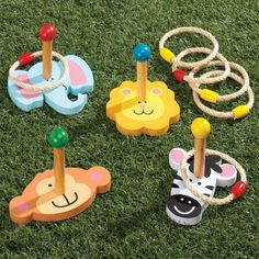 Animal Ring Toss – Ring Toss Game – Miles Kimball – Anime pictures to hairstyles Outdoor Toys For Kids, Backyard For Kids, Backyard Games, Games For Kids, Diy For Kids, Activities For Kids, Crafts For Kids, Wood Games, Ring Toss