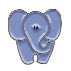 Simplicity Especially Baby Iron On Applique Blue Elephant from @fabricdotcom  Use Simplicity Especially Baby Appliques to add whimsy and charm to apparel, accessories, and other craft and home décor projects. Appliqués can be stitched or ironed on. Package includes 1 applique. Applique measures 4 inches tall and 4 inches wide. $3.98