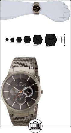 Skagen 809XLTTM - Reloj de caballero de cuarzo (japonés), correa de titanio color gris  ✿ Relojes para hombre - (Gama media/alta) ✿